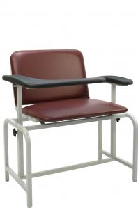 Winco 2575 Padded Blood Drawing Large Bariatric Chair, New, Black