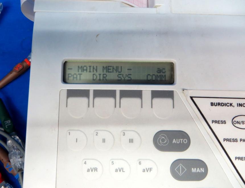 Burdick Elite II EKG Machine w/ Lead Set, 90 Day Warranty