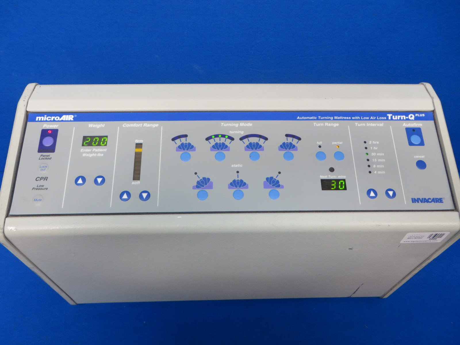 Microair Ma Control Panel True Low Air Loss Ruby 8 Low Air Loss