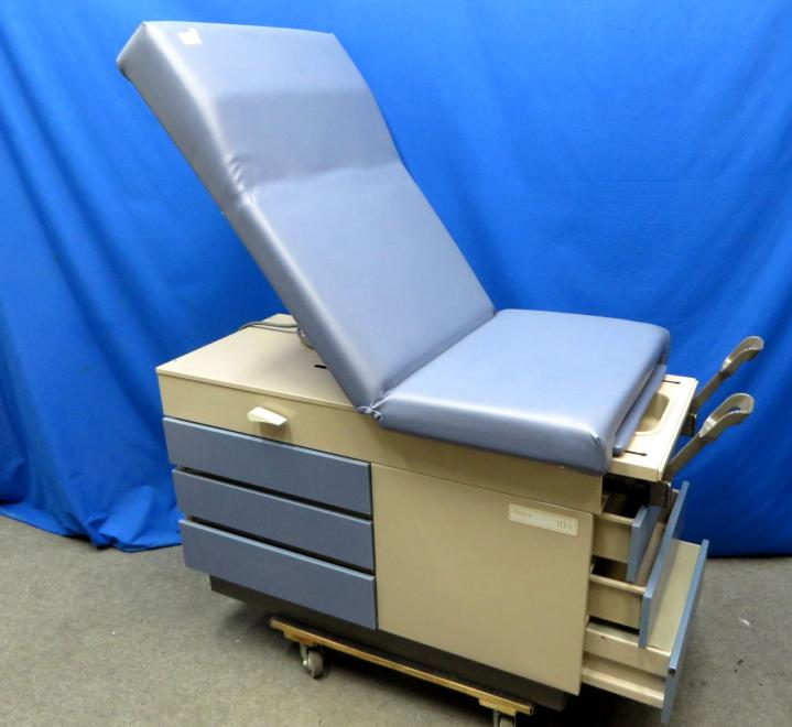 Midmark Ritter 104 Exam Table with Stirrups, Blue, 90 Day Warranty