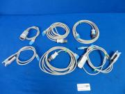 GE Lot of 7 TS-N3, TS-F-D SPO2 Extension Cables, 3 Qty, SPO2 Finger Probe 4 Qty, 90 Day Warranty