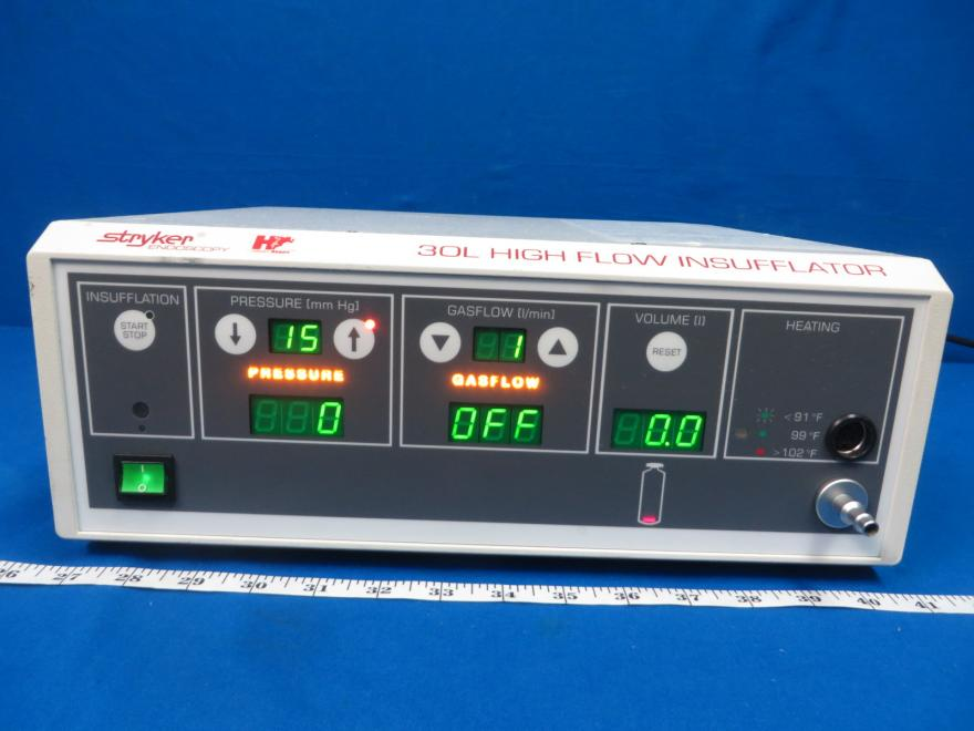 Stryker 30L High Flow Insufflator, 90 Day Warranty