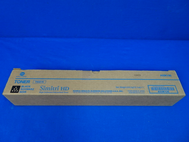Konica Minolta Simitri HD TN321K Black Toner A33K130, 90 Days Warranty
