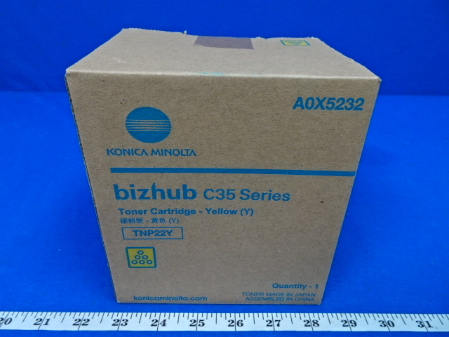Konica Minolta TNP22Y Yellow Toner Cartridge AOX5232 Bizhub 35 Series, 90 Day Warranty