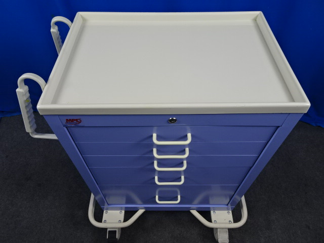 MPD Medical Purple Anesthesia Crash Cart, 90 Day Warranty