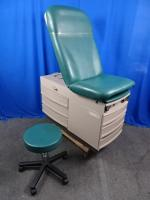 Ritter Midmark 304 Green Exam Table with Matching Doctors Stool, 90 Day Warranty