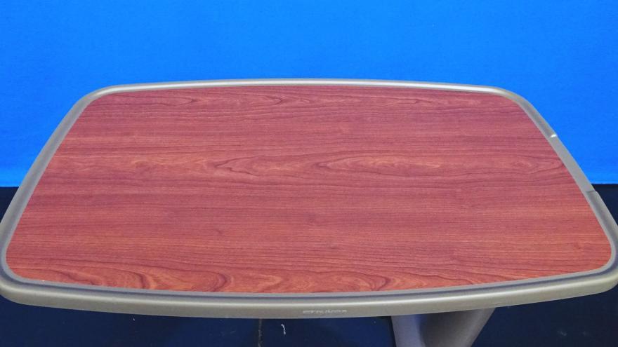 Stryker E2005 Dark Wood Grain Overbed Table, 90 Days Warranty