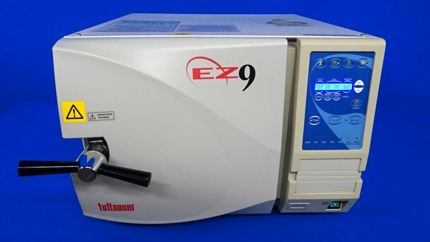 Tuttnauer 2340EA EZ9 Autoclave Fully Automatic Steam Sterilizer, Refurbished, Biomed Tested, Includes 3 Pictured Trays,