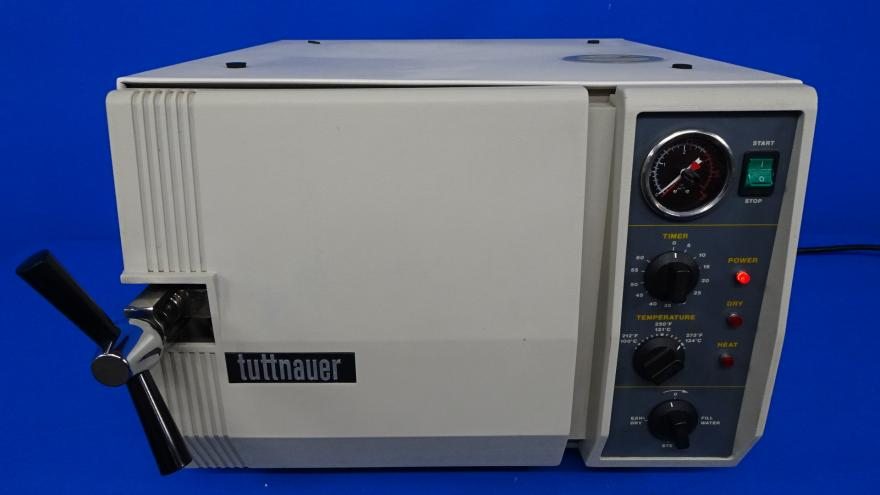 Tuttnauer Automatic Steam Sterilizer with Trays, Refurbished, 90 Day Warranty
