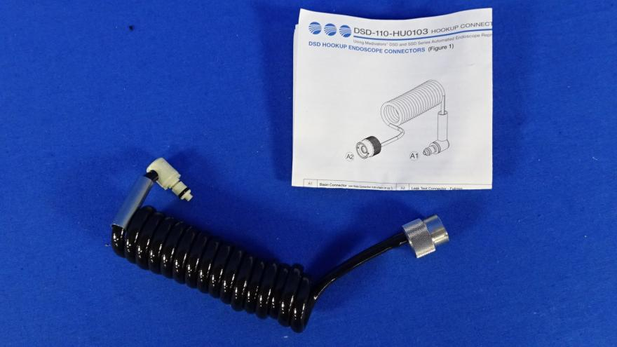 Minntech DSD-110-HU0103 Hookup Endoscope Connector with Connection Guide, 90 Days Warranty