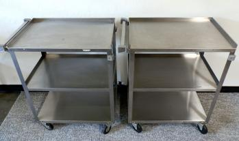 Lakeside stainless steel cart 3 shelve, Phx Pickup Only